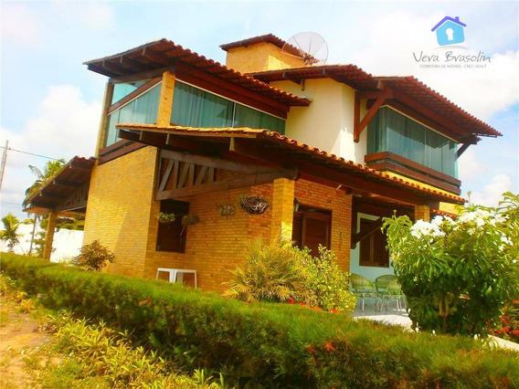 Casa Em Condomínio Fechado De Luxo, Vista Para O Mar, Tabatinga, Conde. - Ca0183