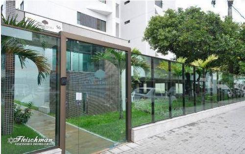 Apartamento Com 1 Dormitório À Venda, 34 M² Por R$ 315.000,00 - Tamarineira - Recife/pe - Ap0329