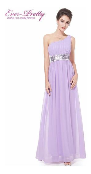 Vestido Ever-pretty Chiffon Luxo Importado Pronta Entrega