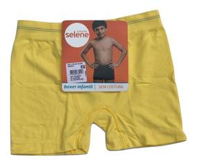 Kit 15 Cueca Boxer Selene Infantil Sem Costura Oferta
