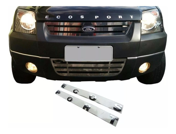 Emblema Letreiro Capô Ford Ecosport 2004 2005 2006 2007 2008 2009 2010 2011 2012 Cromado