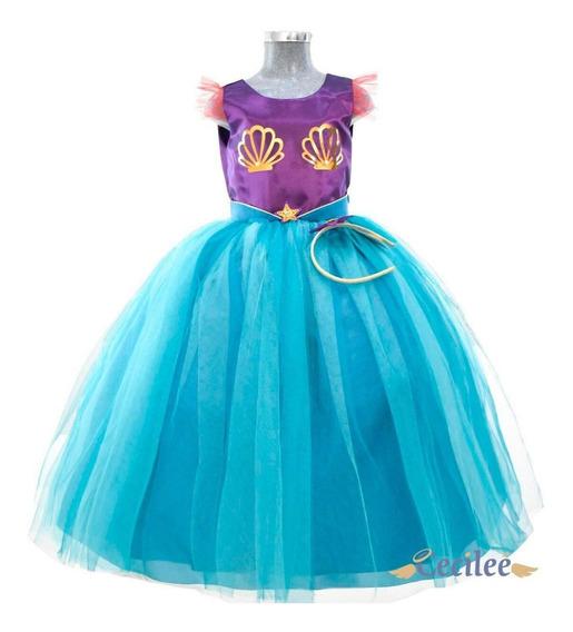 Vestido Elegante Para Ceremonia Niña Sirena