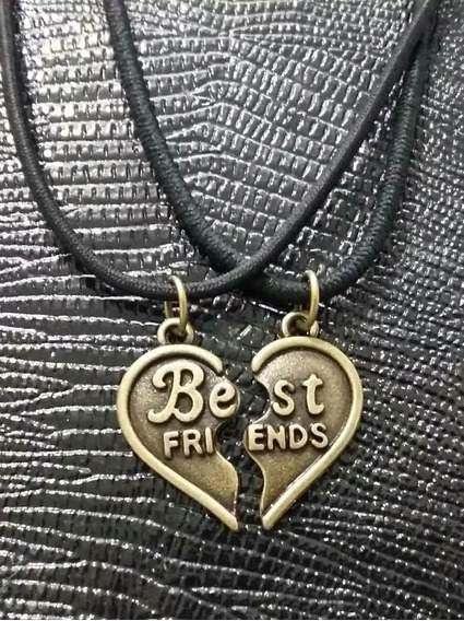 Colar Da Amizade Best Friends Correntinha 2 Em 1