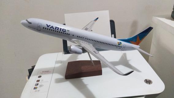 Maquete Do Boeing 737-800 Da Varig/gol