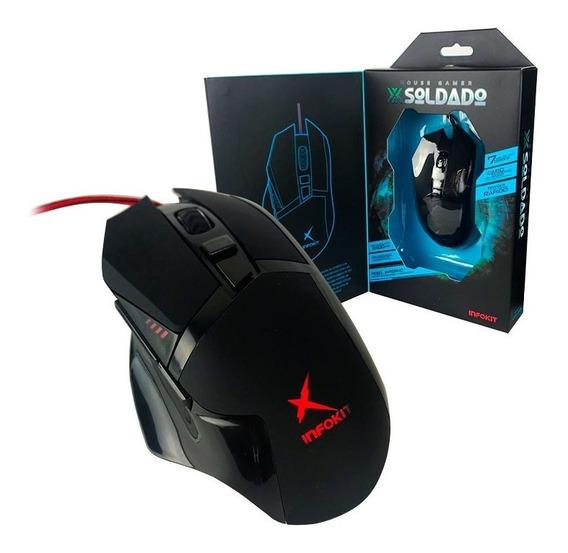 Mouse Gamer 6 Botões Iluminado Rgb Peso Interno 1,5 Gm-601