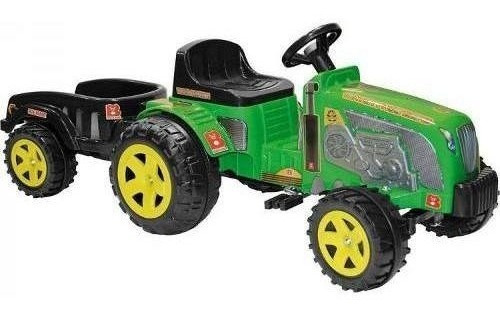 Imagem 1 de 1 de Mini Trator Infantil Pedal Fazendeiro Eco C/ Caçamba Biemme