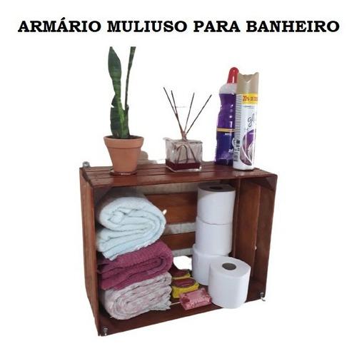 Caixote Prateleira  Armário Para Banheiro