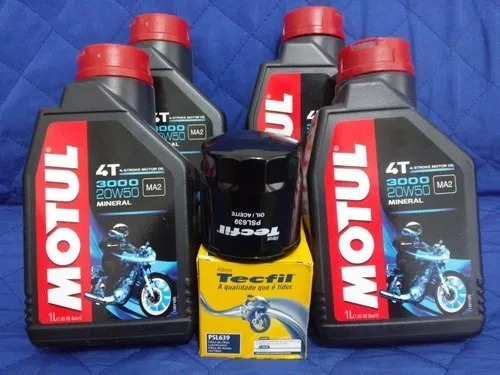 4 Oleo Motul 20w50 Suzuki Bandit 600 + Filtro Psl639 Ph6018