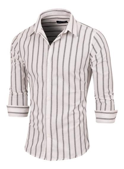 Camisa Recife, Rayada, Poplin, Hombre, Valkymia