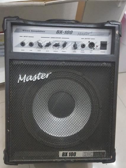 Cubo Amplificador Contra Baixo 100w Rms Master Áudio Bx100