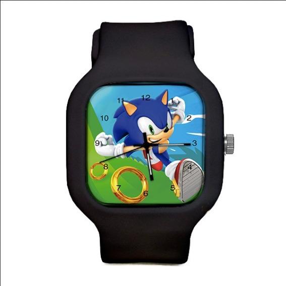 Relogio Sonic Pulseira Silicone A Prova Dagua