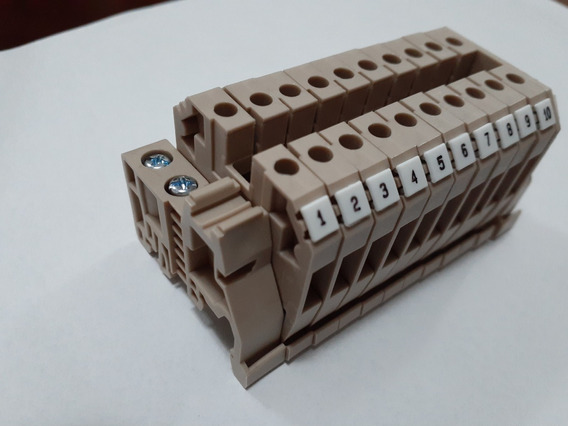 10 Pçs - Borne Sak / Conector Passagem 2,5mm + Tampa / Poste