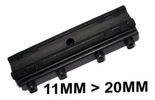 Adaptador Conversor De Trilho 10mm Para 20mm Red Dot Luneta