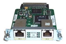Placa Hwic-2fe Para Roteador Cisco