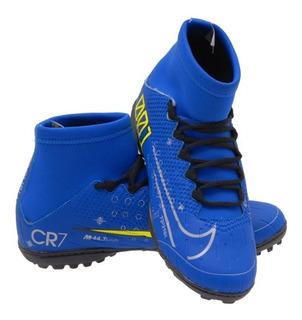 Botinha Society Cr7 Azul