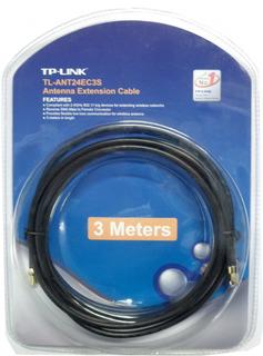 Cable Alargue Wifi Rp Sma Macho Hembra 3 Metros Tplink E4244