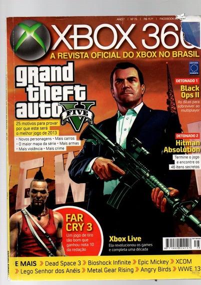 Revista Xbox 360 Grand Theft Auto Vfive Nº 75