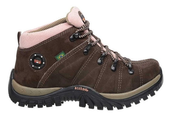 Boot Coturno Tênis Adventure Trilha Trekking Feminino Couro