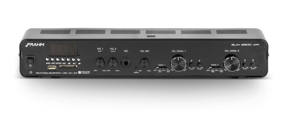 Amplificador Frahm Slim 2500 App G2 Som Ambiente E Lojas