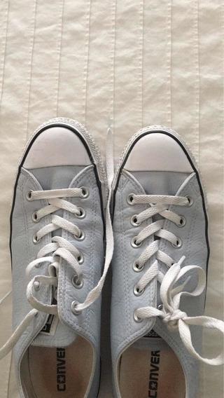 Zapatillas Converse De Cuero Como Nuevas Talle Us 10