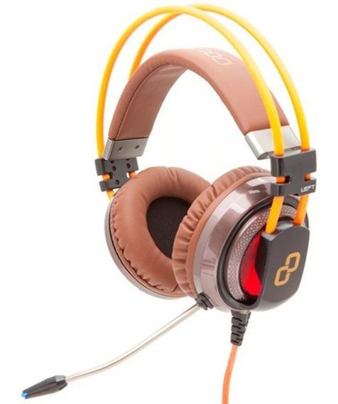 Headphone Gamer Goldentec Gt Attack 7.1 Laranja