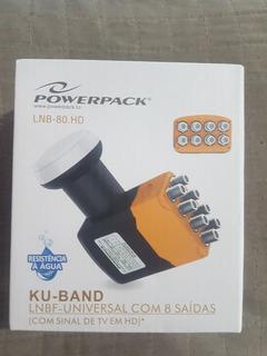 Lnb 8 Salidas Antena Satelital Powerpack Banda Ku Lnb80hd