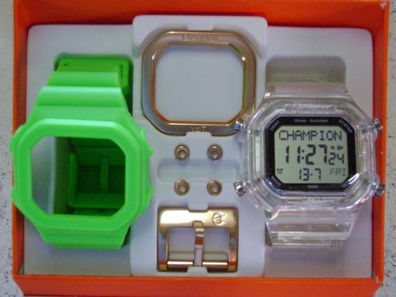 Relógio Champion Yot Original Cp40180x Nf Verde Transparent