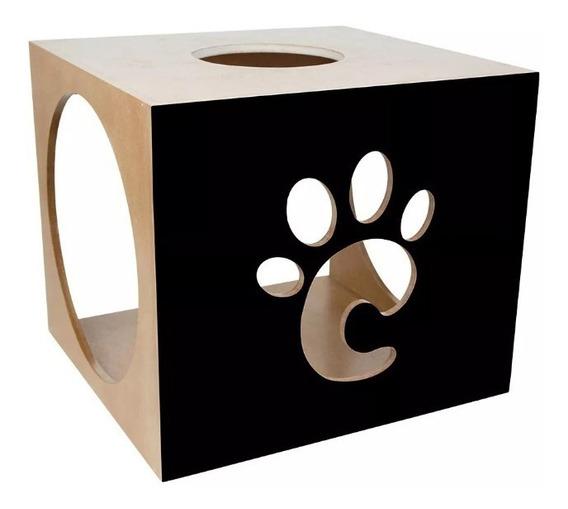 Casinha Toca Casa Nicho Cubo Para Gatos Petchoc