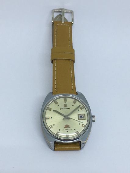 Relógio Ricoh Á Corda Manual (17 Rubis)
