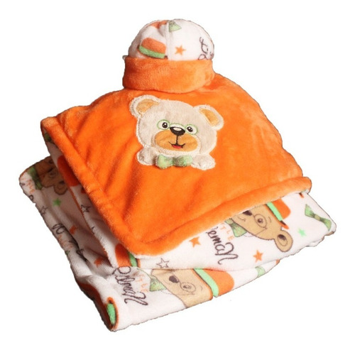 Cobija Térmica Para Bebe Osi, Incluye Gorrito / Doble Faz