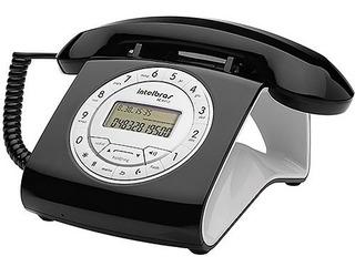 Telefone Com Fio Estilo Retro Preto Tc 8312 - Intelbras Nova