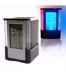 Relógio Despertador Digital Alarme Alto A Pilhas Porta Lapis