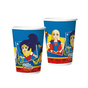 Copo Papel 180ml Super Hero Girls C/8