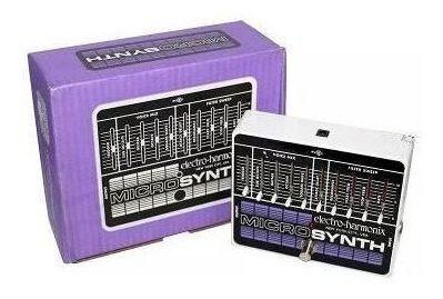 Pedal Pedaleira Electro Harmonix Ehx Microsynth Sintetizador Nyc Usa Novo Original + Fonte