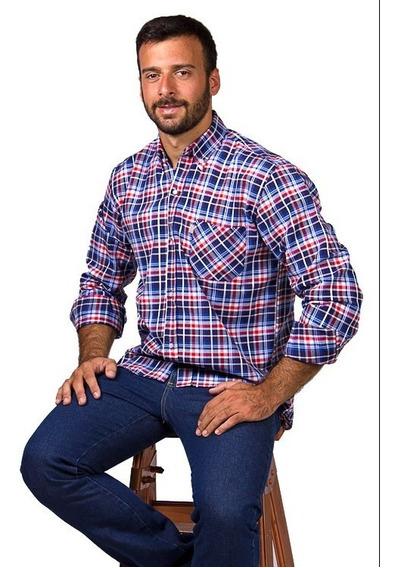 Camisa Cuadros/rayas Manga Larga Talles Especial 46 A 50