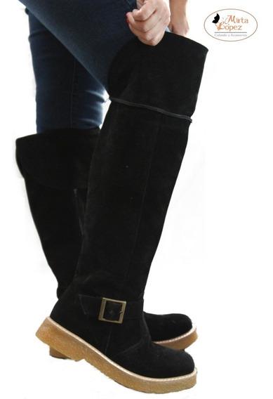 Botas Bucaneras Largas Gamuza Mujer Talle Grande 41 42 43 44