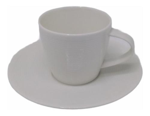 Taza Con Plato Cafe Diseño New York Ceramica Vajilla Oferta