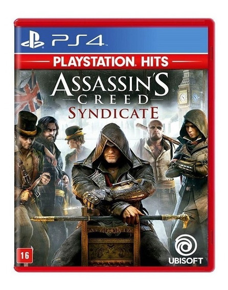 Jogo Assassins Creed Syndicate Hits Mídia Física - Ps4