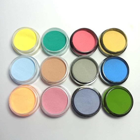 Polimeros Acrilico De Colores X12 Unidades Uñas Esculpidas