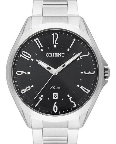 Imagem 1 de 3 de Relógio Orient Masculino Prateado Mbss1384 P2sx