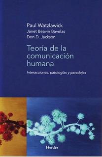 Teoria De La Comunicacion Humana - Watzlawick - Libro Nuevo