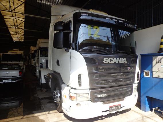 Caminhão Scania G-420 Ano 2011/12 Toco Branca Nova