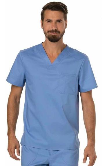 Uniforme Médico Caballero Cherokee Azul Cielo Talla Chica