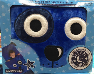 Manta Saco De Dormir - Cachorro Azul/unicórnio Infantil