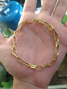 Pulseira Masculina Ouro 18k, Banhada ( Promoção )