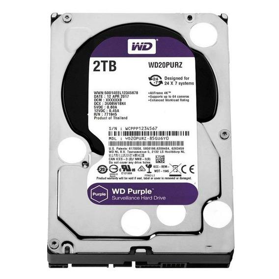 Hd 2tb Purple 2 Tera Western Intelbras Wd Cftv Dvr Wd20purx