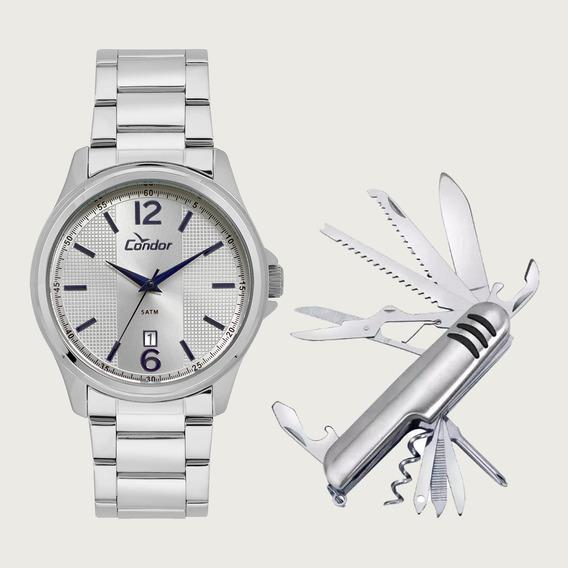 Relógio Condor Masculino Co2115ktg/k3k Com Canivete