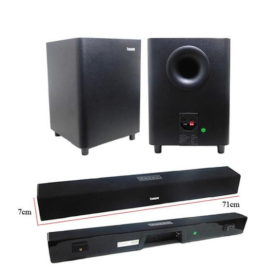 Soundbar E Subwoofer Bluetooth Auxiliar Tv 130w (mts-2017)