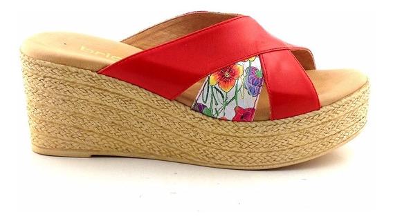 Zapato Cuero Mujer Briganti Zueco Sandalia Mcsu48014 Vp
