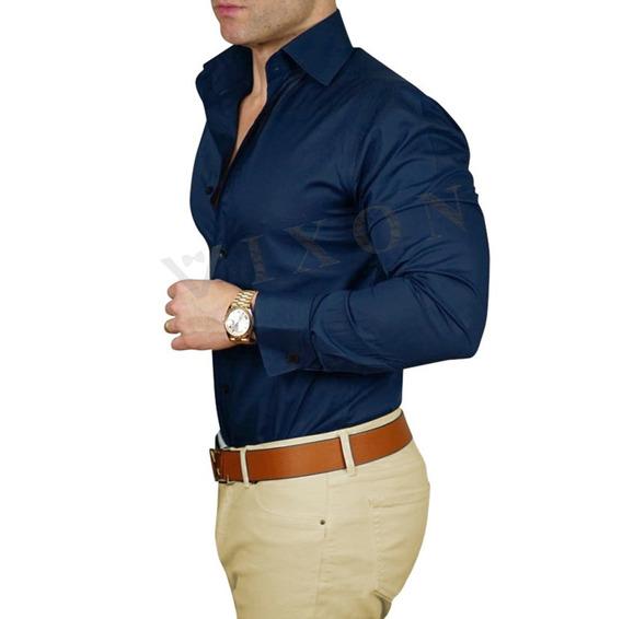 Camisa Entallada + Pantalón Hombre Gabardina - Arma Tu Combo